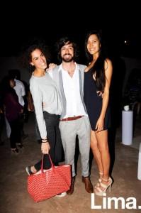 Ginevra Ficari, Lorenzo Ferreyros y Lorena Larriviere