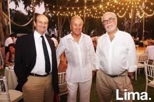 Richard Custer, Álvaro Bedoya y Gonzalo Lanata