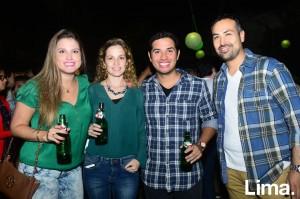 Cecilia Olano, Shimara Del Águila, Jaime Valera y Chino Patiño