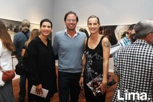 Claudia Odeh, Carlos Abril y Morella Petrossi