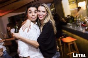 Gonzalo Sandaza y Fiorella Poblete en cumpleaños de Gonzalo Sandaza, La Balanza, San Isidro.