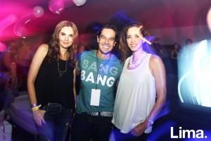 Jessica Vásquez, Iandrik Lynch y Viviana Cisneros