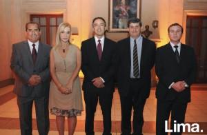 Lucio Cancho, Verónica Tramer, Andrés Lavados, Andrés Ilabaca y Francisco Morande