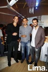 Juan Carlos Tassara, Jorge Ruiz y Martín Bedoya