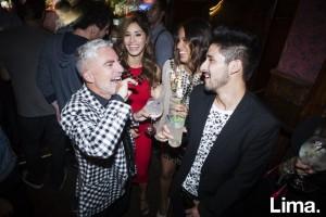Enrique Leguía, Fiorella Chirichigno, Antonella Legua y Kevin Catalán en Aniversario de Victoria Bar, Barranco.