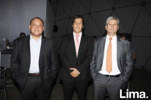 Piero Zapata, Jorge Quiñones y Carlos Arlotti