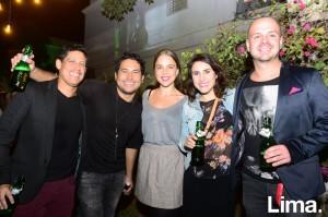 Rodrigo Mejía, José Eyzaguirre, Andrea de Romaña, Ines Roggero y Miguel Merino