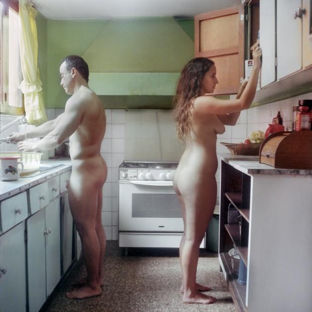 Esposa e hija desnuda