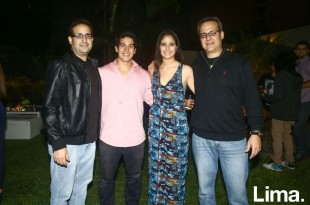Nicolás Montero, Mariano Razzeto, Adela Montero y Miguel Montero