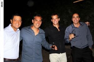 Luis Felipe Castellanos, Emilio Saba, Raúl Ferrero y Rafo Falcone