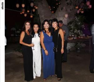 Jessica de Botto, Milagros de Herrera, Elizabeth Ortiz de Zevallos y Patricia Wager