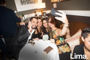 Javier Delgado, Gabi de Ferrari, Andrea Cruz y Ana Cardoza en cumpleaños de Javier Delgado, Hotel B.