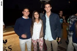 Daniel Rey, Tamara Michilot y Javier Castro