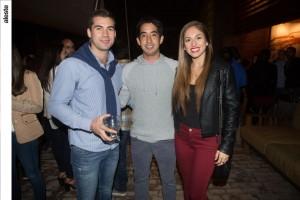 Alonso Martínez, Walter Pasache y Daniela Vizcarra