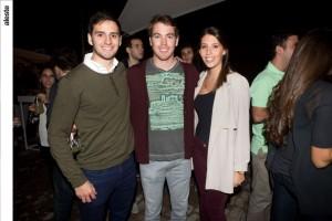 Patrick Fry, Nicolás Cauvi y Luciana Halfin