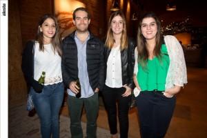 Xaviera Brandon, Martín Bustamante, Daniela Philippides y Cristina de la Piedra