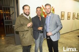 José Cuadros, Javier Gamarra y Christian Dueñas