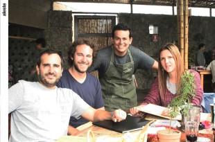 Giovanni Ciccia, Domingo Seminario, Eduardo Navarro y Carolina Botto en Chaxras, Pachacámac