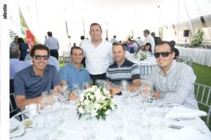 Alex Woodman, Ricardo Gomez, Flavio Velarde, Patricio Blanco y Diego Florez
