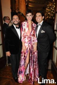 Efraín Salas, Johana Iriarte y Carlos Andrés Luna