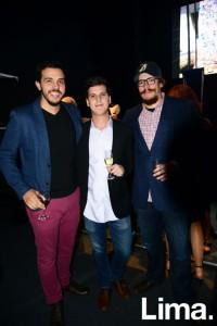 Francesco de Santis , Ricardo Martins y Renzo Garibaldi