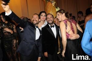 Gerardo Larrea y Antonio Choy-Kay, Efraín Salas y Jessica Vásquez