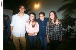 Diego Dulanto, Grace Chappell, Álvaro Sanahuja y Camila Garciía