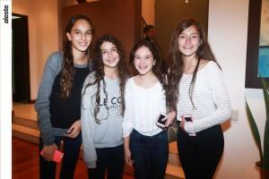 Camila Maclan, Domenica Loor, Andrea Sarria y Camila Álvarez
