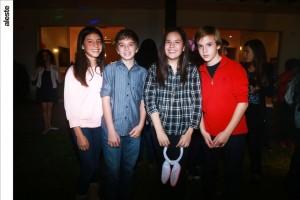 Grace Chappell, Matías Pait, Camila García y Mateo Melgar
