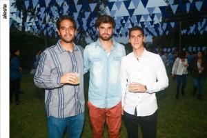 Joseé Luis Berrocal, Sebastián Capurro y Renato Cacera
