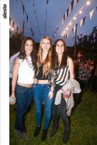 Arianne Gubbins, Melissa Hajek y Veroónica Vega