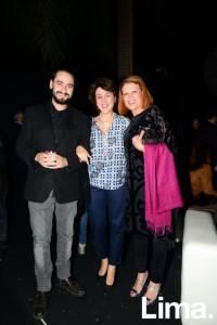 Jesús Morate, Almudena Bermejo y Madgalena Brier
