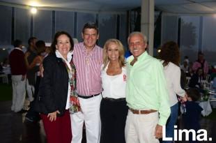 Liliana de Hundskopf, Oswaldo Hundskopf, Nanie San Martín y Felix Anaya