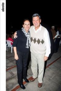 Liliana Mercado y Oswaldo Hundskopf en noche de bailable, Los Cóndores.