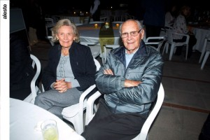 Thea Carughi y Aldo en noche bailable, Los Cóndores.