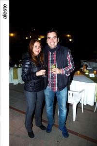 Pamela Linares y Edger Herrera en noche de salsa, Los Cóndores