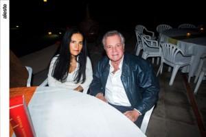 Victoria Wolfenson y Jorge Say†n en noche de salsa, Los Cóndores