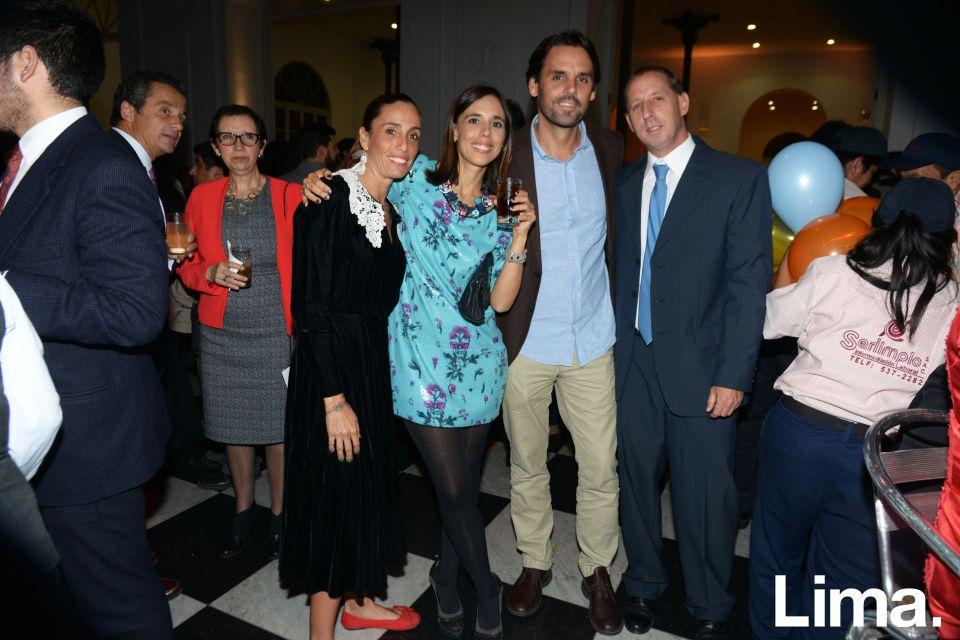 Ale Patow, Cecilia Pardo, Rafael Gastañeta y Felipe Berkol.
