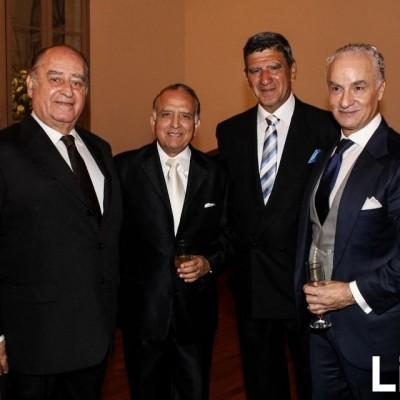 Angelo flores Araoz, Miguel Arbulú, Oswaldo Hundskopff y Antonino Dama