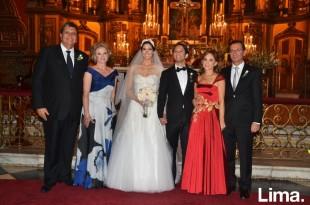 Alan García Pilar Nores, Luciana García, Alberto Haito, Rochi Haito y Alberto Haito