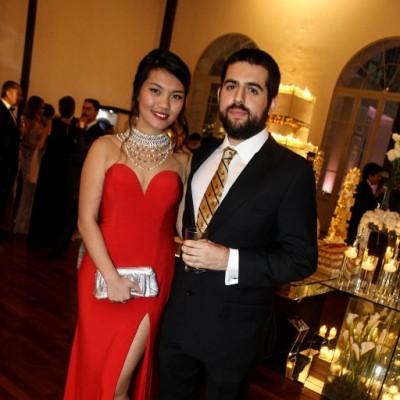 Anqi  Wang y Diego Serrano