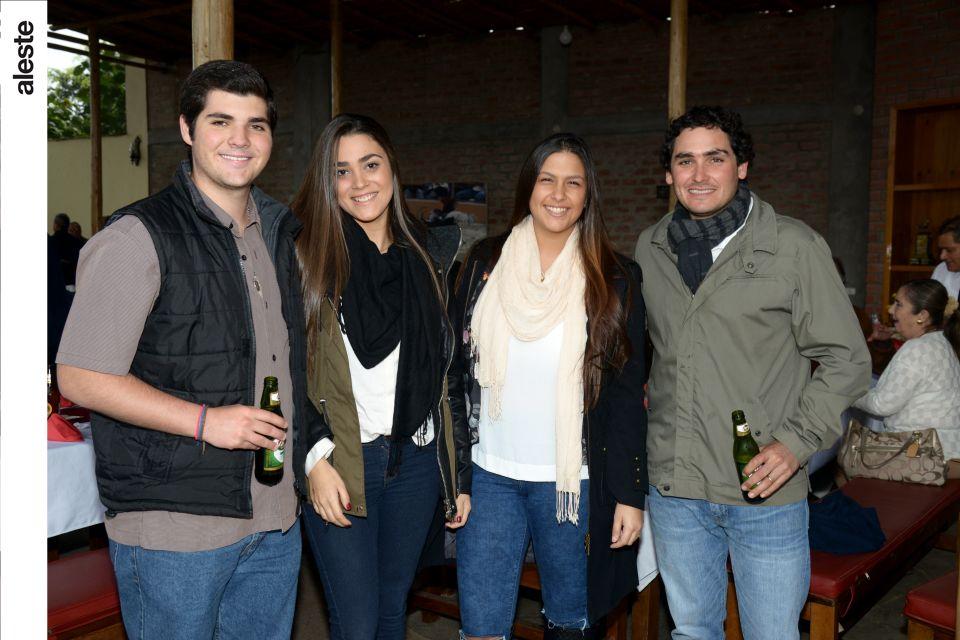 Jose Ignacio Risso, Bruna Grimaldi, Antonella Torres y Vasco Cilloniz