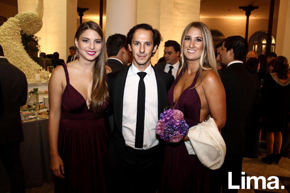 Marisol Vallejos, Didier Doucet y Fiorella booth