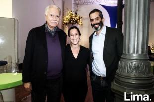 José Cánepa, Scharon Lerner y Juan Carlos Burga