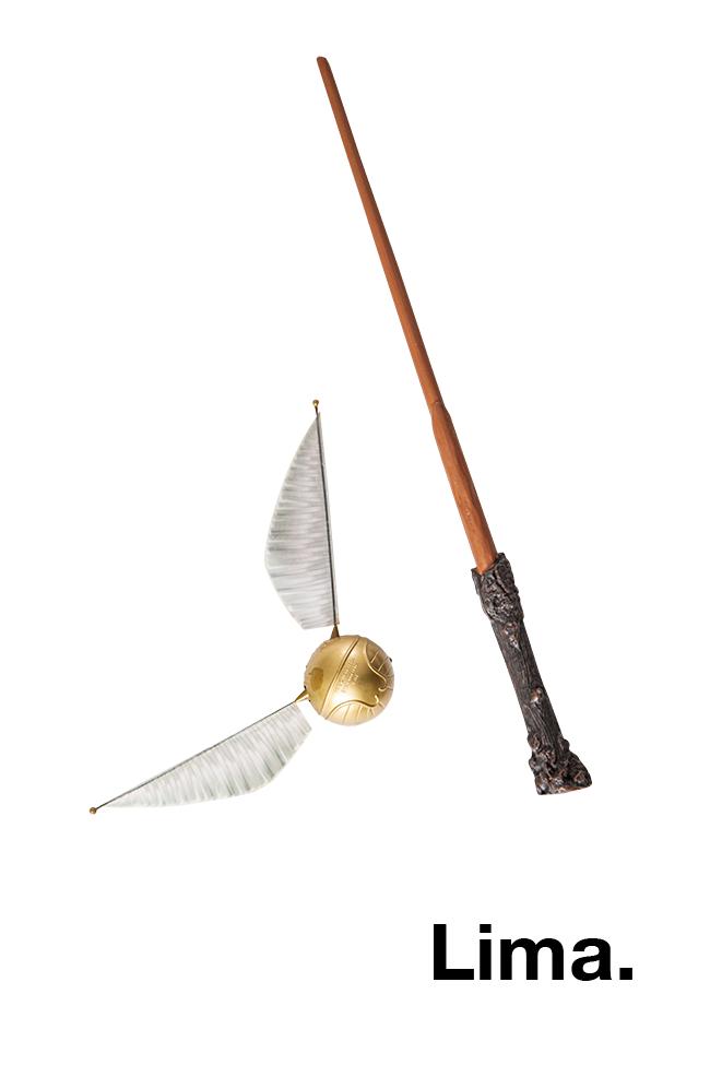 Harry Potter: Desde niño Stefano es fanático de los libros de Harry Potter. Aquí prueba de ello: la varita y snitch dorada del joven mago.