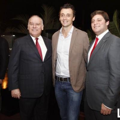 Aldo Noriega, Benoit Vulliet y Franco Noriega