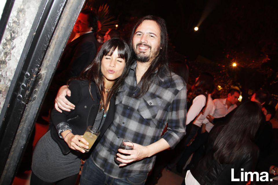 Alejandra Benavides y Max Forno en fiesta Jack Daniel's, Miraflores.