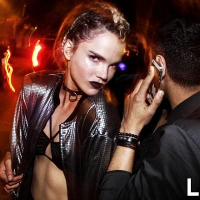 Alessandra Denegri en fiesta YSL, Barranco.