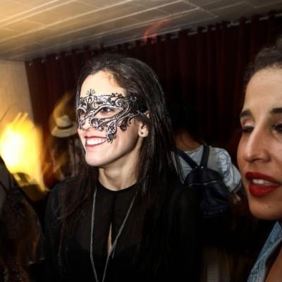 Alexandra Barandiarán  en fiesta de Halloween, Microteatro.