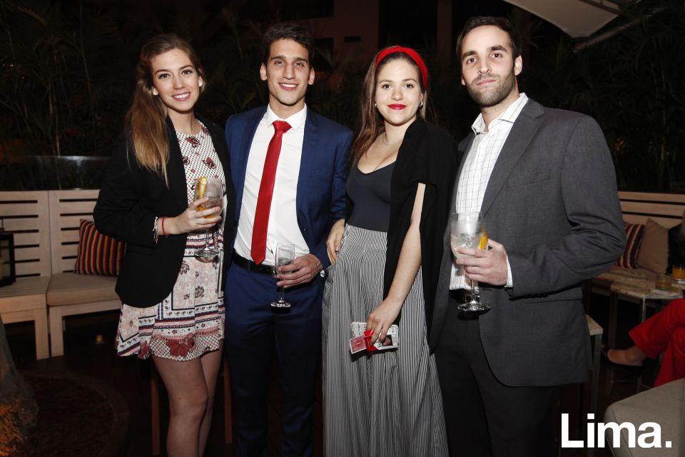 Andrea Noriega, Rodrigo Recavarren, Luciana Roullion y Jonathan Goldin